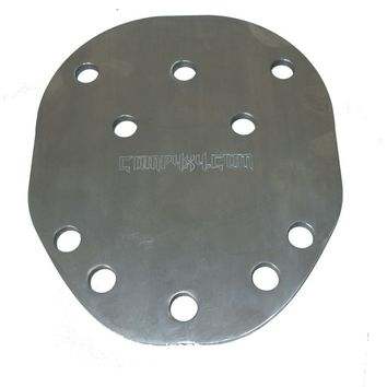 Multi-pattern Spare Tire Mounting Plate