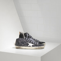 Sneakers FRANCY in pelle splamata all over Glitter e Stella in Pelle - G28WS591.A25 - Golden Goose