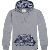 On The Byas Found Printed Long Sleeve Pullover Hoodie - Mens Hoodies - Gray