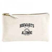 Hogwarts Alumni Canvas cosmetic zip purse pencil harry potter pen bag holder | eBay
