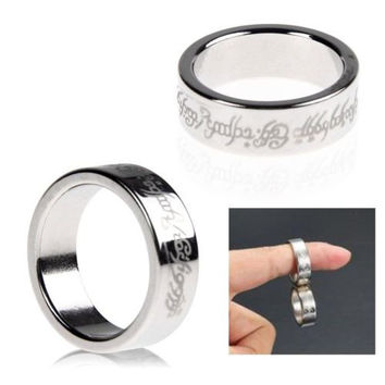 Strong Magnetic Ring Magnet Coin Finger Pro Magic Tricks Props Show Tool Funny H