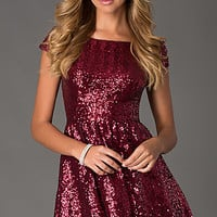 Short Sequin Short Sleeve Dress