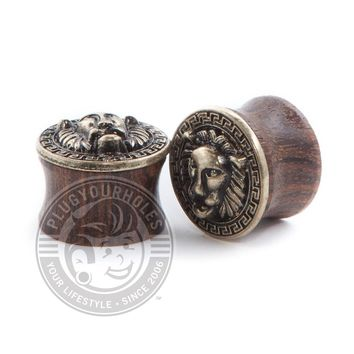 Antique Lion Face Wood Plugs