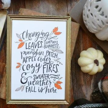 Changing Leaves Fall Print