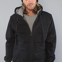 Matix The Asher Classic Zip Up Hoody in Black hood ,Sweatshirts for Men