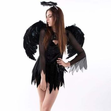 Feather Angel Fairy Wings Wand Halo Set 3Pcs Halloween Party Fancy Dress Costume 6475 Macchar Cosplay Catalogue Mercy Mine