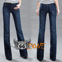 Women's Mid Waist Boot Cut Jeans