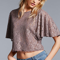 Flutter-sleeve Top - The Lace Collection - Victoria's Secret