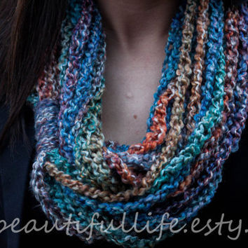 "Crochet Infinity Chain Scarf - ""Ericka"" - Featured at All Blinged Out Cowgirls"