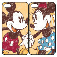 mickey and minnie mouse Vintage Samsung Galaxy S3 S4 S5 Note 3 4 , iPhone 4 4S 5 5s 5c 6 Plus , iPod Touch 4 5 , HTC One M7 M8 ,LG G2 G3 Couple Case