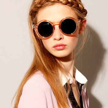 Vintage Round Circle Sunglasses