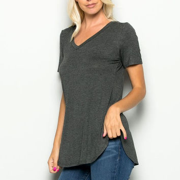 Leila Loose Shirt - Gray
