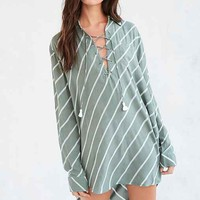 Faithfull The Brand Walker Lace-Up Shirt Dress