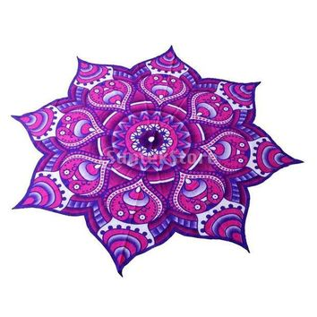 ESBU3C Mandala Tapestry Indian Wall Hanging Bohemian Bedspread Throw Home Decor-Purple