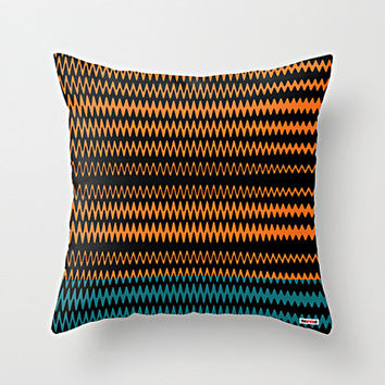 Color Stripes Decorative throw pillow cover - Orange and black pillow cover - Modern pillow cover