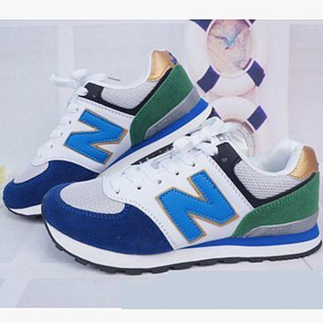QIYIF new balance abric is breathable n leisure sports couples forrest gump running grey
