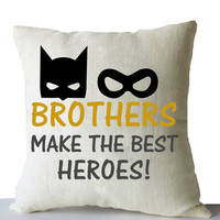 Batman Throw Pillow Cove Brothers Makes The Best Heroes Robin Kids Superhero Decor Nursery Birthday Christmas New Years Gift Linen Cushion