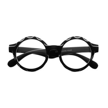 Unique Retro Style Large Clear Lens Circle Round Eyeglasses R2820