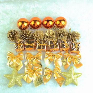 For Home And Party Supplies Gold Silver Hanging Balls Pine Cones Christmas Tree Party Decoration Ornament Decor