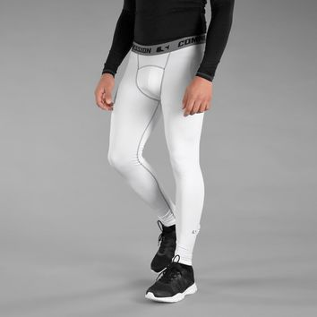 Basic White Solid Tights for men
