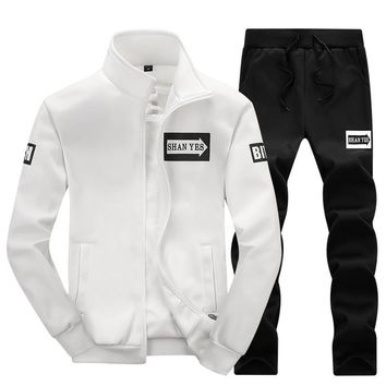 2018 sportswear hoodies set Autumn Stand collar men clothes Polo track suits tracksuits male sweatshirts & Coats Joggers