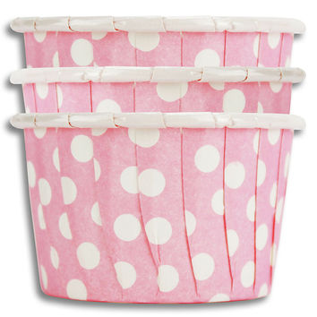 Pink Polka Dot Nut Cups