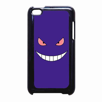 Pokemon Gengar Sinister face FOR IPOD TOUCH 4 CASE *PS*