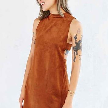 Oh My Love Faux-Suede Tank Dress