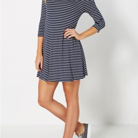 Navy & White Striped Tent Dress