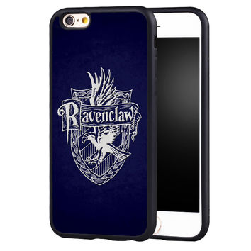 Ravenclaw Harry Potter Printed Protective Soft TPU Mobile Phone Cases For iPhone 6 6S Plus SE 5 5S 5C 4 4S Back Shell Cover