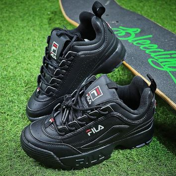 FILA Disruptor II 2 All Black Shoes FW0165-038 - Best Online Sale