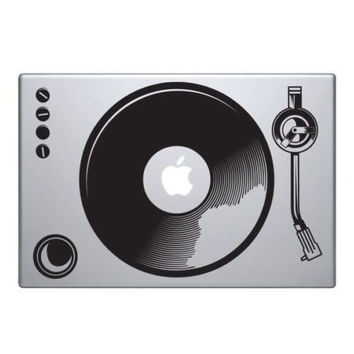 """Lechely Speaker Decal for Macbook 13 15 inch Air/Pro/Retina Sticker Removable Vinyl Turntable DJ Air Funny Mac 13 inch (Speaker 13"""")"""