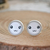 Cute Smile Earrings - Pikachu smile stud earrings, eye and mouse cabochon ear stud earrings  (E59)