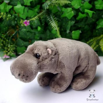 Baby Hippo Stuffed Animal Plush Toy 8""