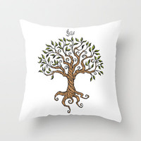Shirley's Tree Throw Pillow by Laurie A. Conley