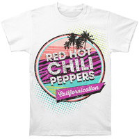 Red Hot Chili Peppers Men's  Californication Slim Fit T-shirt White