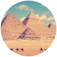 Egyptian Pyramid Circle Wall Decal