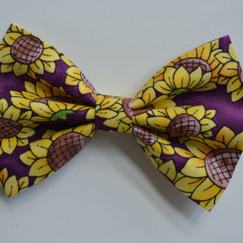 Hair bows-Sunflowers, Hair clips for kids and teens, hair clips for women, small hair bows, Hair bow