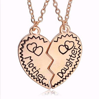 Mother Daughter 2 Piece Necklace
