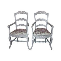 Pre-owned Painted Country French Armchairs - A Pair