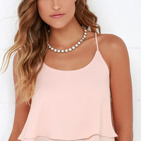 Should've Been Us Blush Crop Top