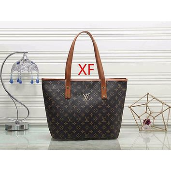 Louis Vuitton LV Fashion Leather Handbag Tote Shoulder Bag Satchel