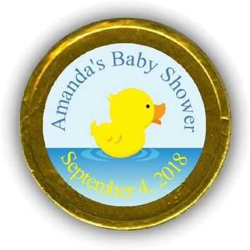 Rubber Ducky Baby Shower Chocolate Coins