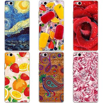 Luxury Printing Case For ZTE Nubia Z9 Max Art Printed Flower Cell Phone Cover Rose Funda Cute Animal Coque