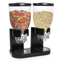 Dual Dispenser Dry Food Rice Nut Beans Cereal Dispenser Storage Canister