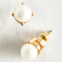 Gleam in Your Style Earrings in Pearl by ModCloth