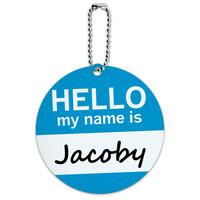 Jacoby Hello My Name Is Round ID Card Luggage Tag