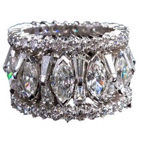 Mixed-cut Diamond Eternity Band