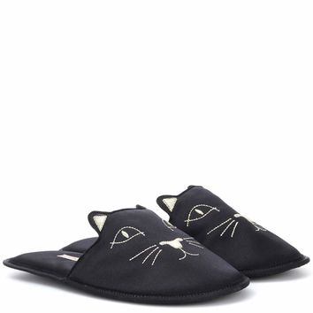 House Cats satin slippers