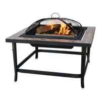 UniFlame® Outdoor 30-Inch Ceramic Tile Firepit